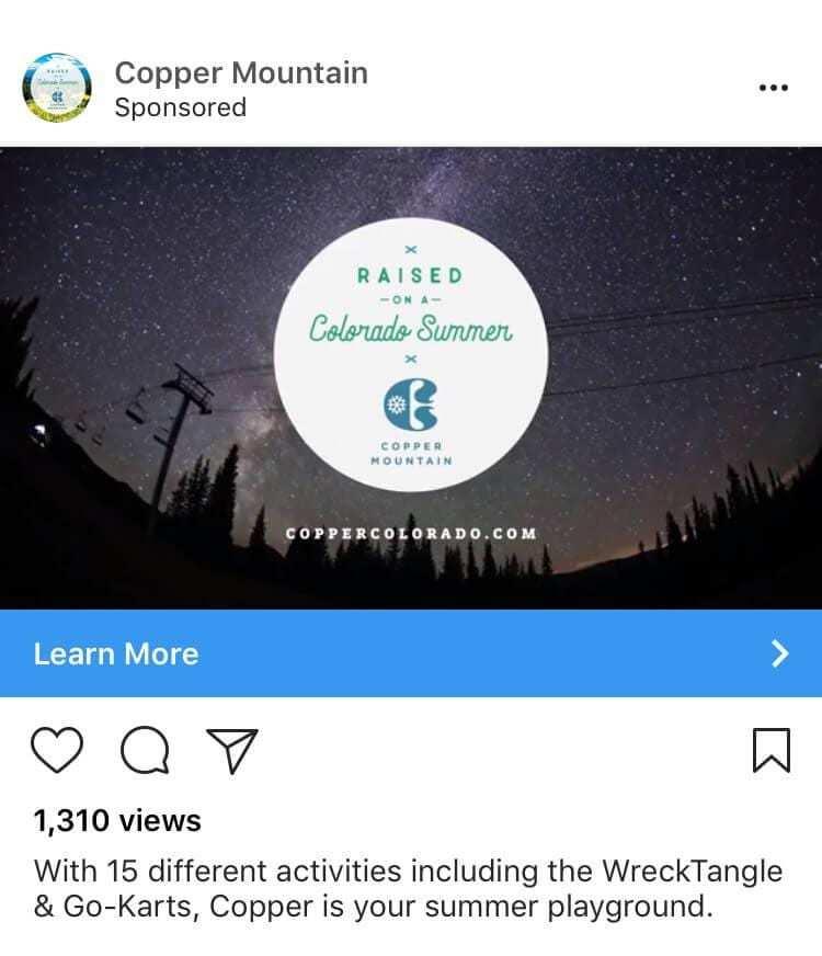 Ejemplo de coste de los anuncios Instagram
