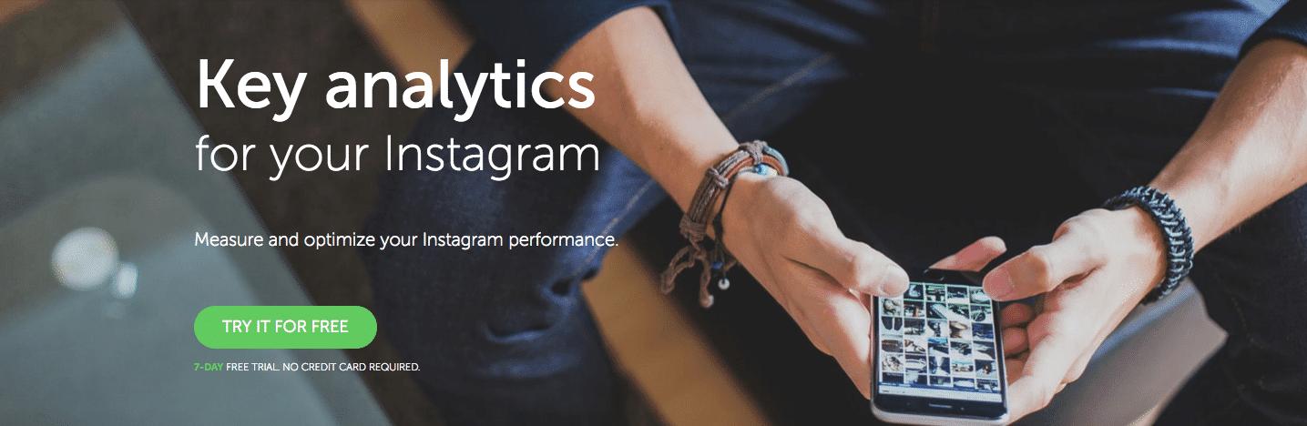 Ejemplo de herramientas de crecimiento Instagram