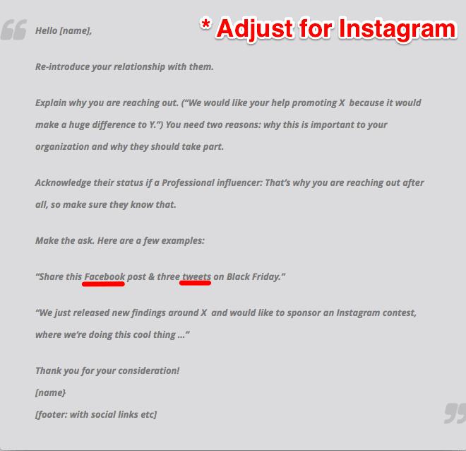 ejemplo de cómo conseguir seguidores de Organic Instagram